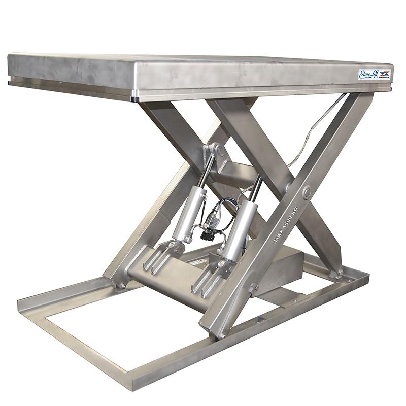 Edmolift solutions tables l vatrices en acier inoxydable - Table en acier inoxydable ...